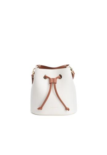 Maverick & Co. white Maverick & Co. Eloise Mini Bucket Crossbody Vegan Leather Bag for Women - Pearl White 4C332AC41FE9AFGS_1