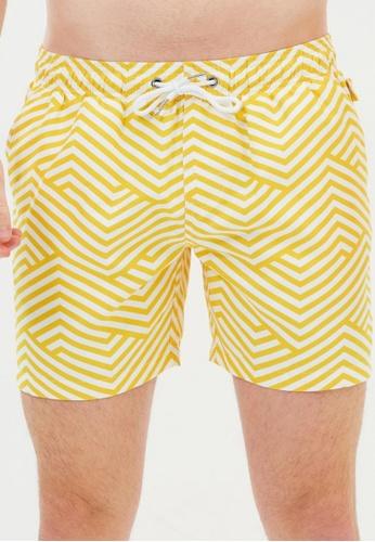Vacay Swimwear yellow Bondi Swim Shorts BA18CUS649E349GS_1