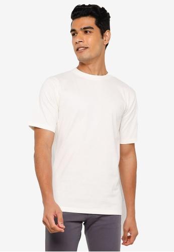 RAGEBLUE white Plain T-Shirt D7DFAAA51645B7GS_1