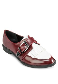 Contrast Buckled Loafers