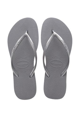 Havaianas grey Slim Flip Flops 76026SHAA78DF6GS_1