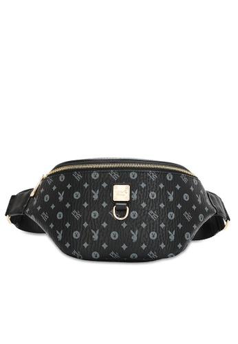 PLAYBOY BUNNY black Women's Waist Bag / Waist Pouch / Belt Bag B4BBAAC694B85DGS_1