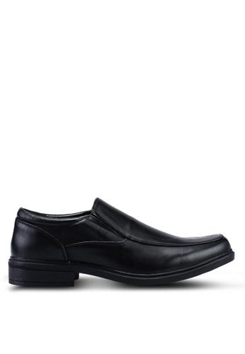 Bata black Faux Leather Dress Shoes 1E8FCSHEB4A301GS_1