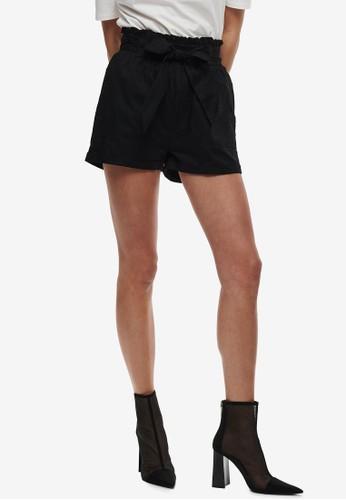 ONLY black Smilla Belt Shorts C5EDEAA27C438AGS_1