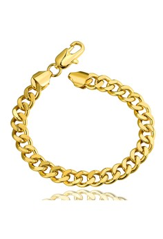 Hercules 18K Gold Plated Chain Bracelet 0.8cm thick