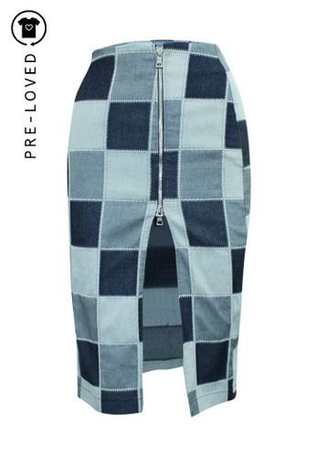 Reformation multi Pre-Loved reformation Patchwork Pencil Skirt with Zipper 39170AACCAD867GS_1