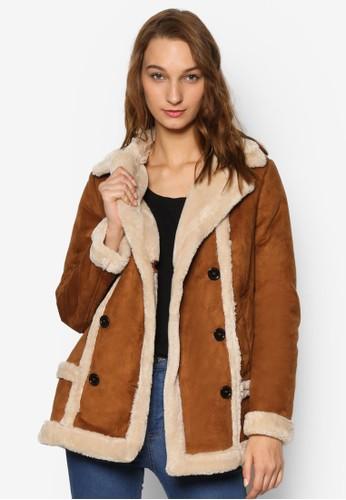 Buy TOPSHOP Faux Fur Shearling Jacket Online | ZALORA Malaysia