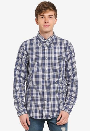Abercrombie & Fitch blue Oxford Shirt AB423AA0SJN7MY_1