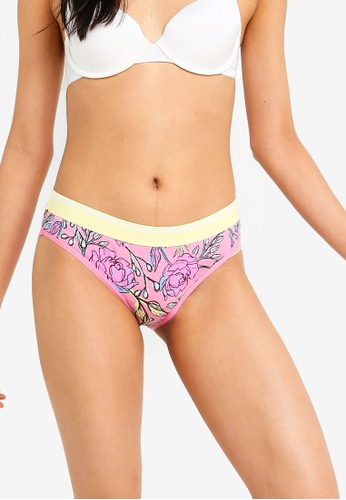 Cotton On Body red and pink Sporty Femme Bikini Briefs 8BE8BUSB9C75DBGS_1