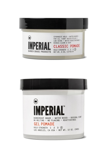 Buy Imperial Barber Imperial Barber Classic Pomade and Gel Pomade Set  Online on ZALORA Singapore