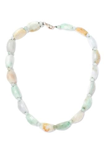 Celline Silver multi Turtle Jade (Necklace) 367F9AC724F137GS_1