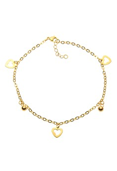 Heart And Balls Anklet