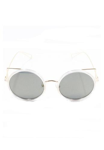 Amora Scarlett grey Vintage Kitty Cat Black Lens with Gold Frame Eyewear AM058AC41DAKMY_1