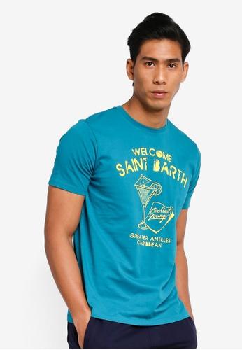 OVS 綠色 印花T恤 E6E95AA5541D98GS_1