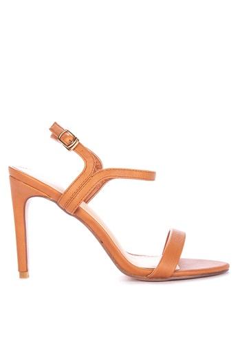 Primadonna brown Heeled Sandals 255D1SH1B2823EGS_1