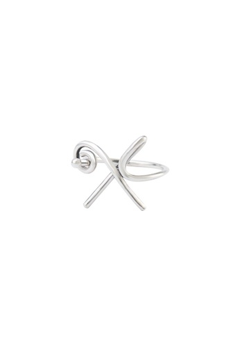 A-Excellence silver Premium S925 Sliver Geometric Ring B7F63AC3952CE3GS_1