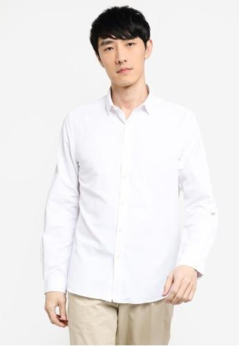 KOTON white Long Sleeves Shirt 48443AABA821D8GS_1