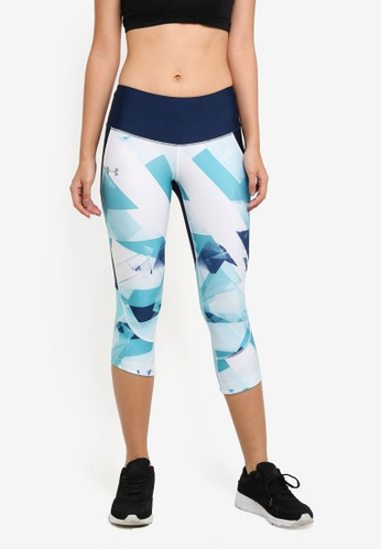 d51a9bb8387b Under Armour blue Armour Fly Fast Printed Capri Pants UN337AA0SU8QMY 1