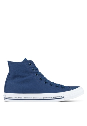 Converse navy Chuck Taylor All Star Hi Sneakers CO302SH0SW6EMY_1