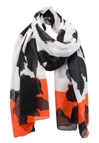Dressing Paula orange Printed Rectangle Scarf 0843BAA9649843GS_1