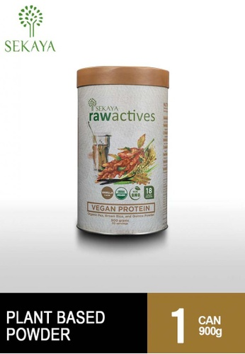 Sekaya brown Raw Actives Vegan Protein 900g Can 405A9ES06B65A2GS_1