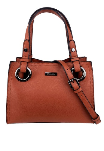 Mel&Co orange Faux Leather Satchel Bag FCE68ACF567F0EGS_1