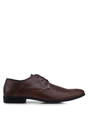 Burton Menswear London brown Rees Tan Lace Up Shoes C19F4SH6D70F66GS_1