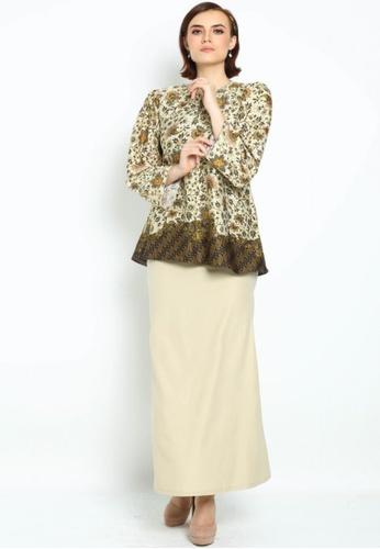 Owl By Nora Danish - Raihanna By Owloveraya Kurung Kedah Batik Modern from OWLBYND in Yellow