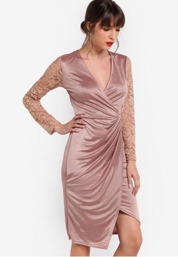 Juliet 蕾絲長袖esprit auV領連身裙, 服飾, 洋裝