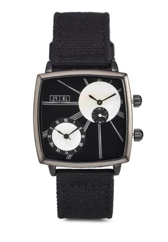防水方框帆布esprit 西裝帶手錶, 錶類, 其它錶帶