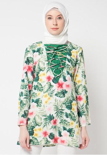 Aira Muslim Butik green Heena Blouse AI892AA37XZQID_1