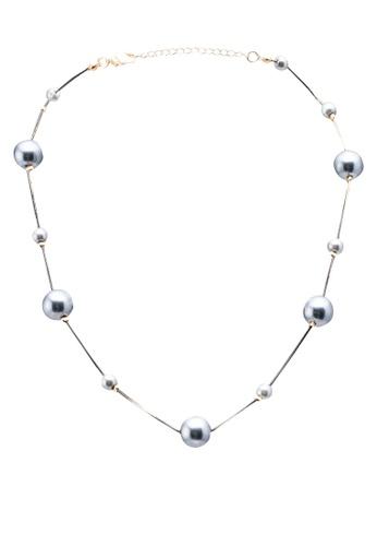 Red's Revenge white Delightful Pearls Collar Necklace DEFD6AC8BA1EA4GS_1