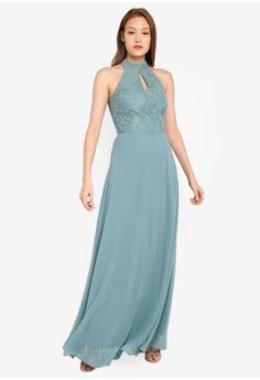 d117e9354fbd Little Mistress Fern Lace Maxi S$ 166.90. Sizes 6 8 10 12 14 · ZALORA black  Mock Neck Flutter Sleeves Dress 9A46BAA47F5B1DGS_1