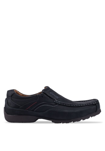 Louis Cuppers black Sewn Up Slip Ons 667E7SH83715FAGS_1