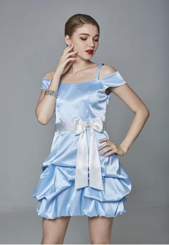 Party系甜美落肩氣球裙短禮服, 服飾,esprit hk office 派對洋裝