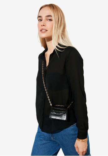 Trendyol black Basic Shirt F4430AA65C6610GS_1