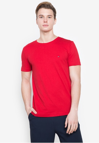 Tommy Hilfiger red Wcc Essential Tee 7EE7DAA2BBE813GS_1