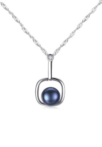 A.Excellence black Premium Black Pearl Elegant Necklace B9494AC498966FGS_1