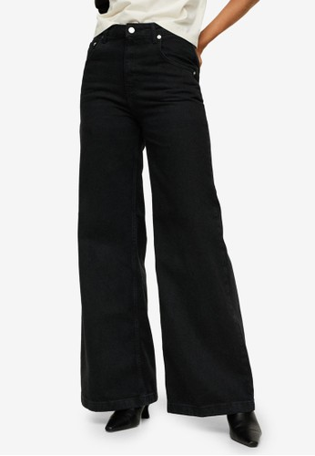 Mango black High-Waist Wide Legs Jeans 70C98AAEAA03DAGS_1