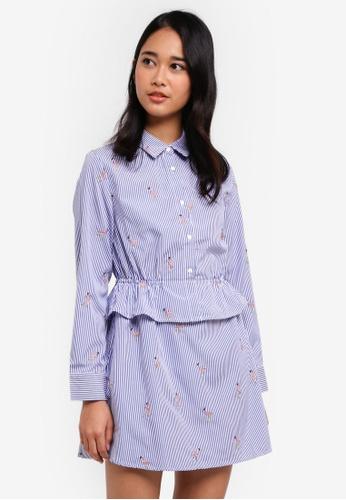 Something Borrowed blue Double Layer Shirt Dress 28798AAE2FDB14GS_1