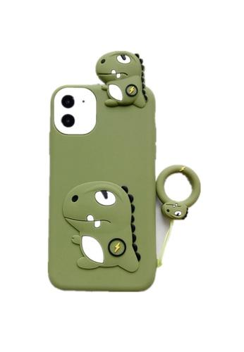 Kings Collection green Lightning Dinosaur iPhone 12 Case EC036AC677579DGS_1