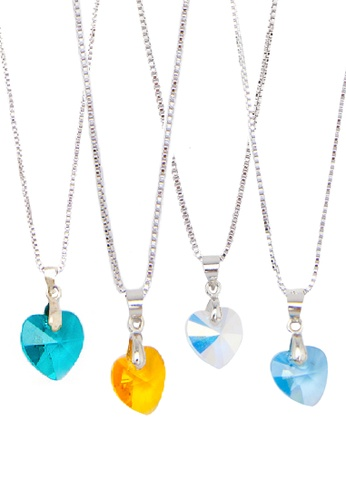 CELOVIS multi RAYA MARKDOWN [Buy1, Free 3] Genuine Swarovski® Crystal Heart Shape Pendants  CE446AC81ACCMY_1