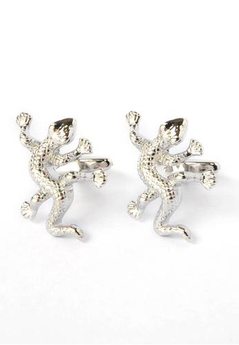 Splice Cufflinks silver Lizard Gecko Cufflinks SP744AC88CPVSG_1