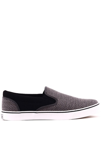 World Balance grey Raleigh MS Slip On Sneakers WO444SH0K3CWPH_1