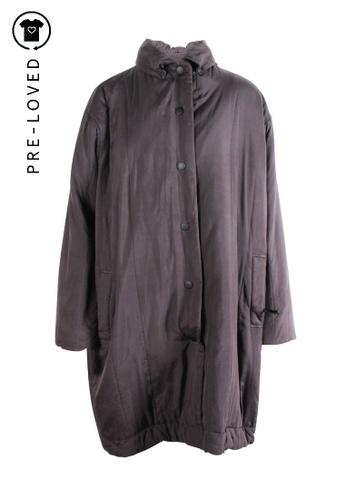 Issey Miyake grey Pre-Loved issey miyake Grey Long Duffel Coat 4187FAAC96CF83GS_1