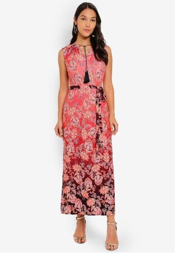 e79b7e40f56c Shop Wallis PETITE Red Paisley Print Maxi Dress Online on ZALORA Philippines