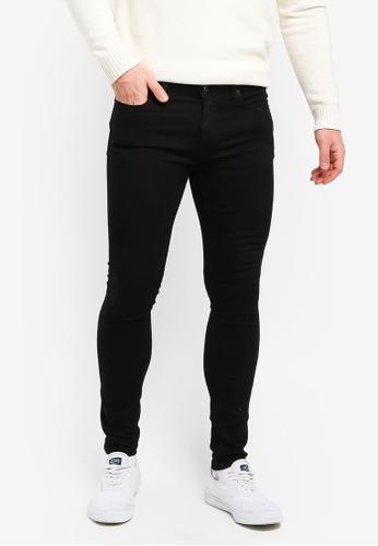 Topman 黑色 Black Spray On Jeans 8DE68AAA4D0F3CGS_1