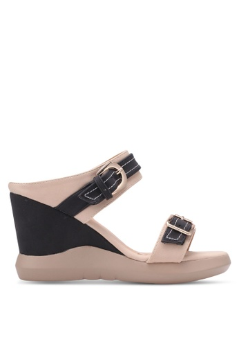 Spiffy black Buckle Strap Wedges SP352SH0S6DUMY_1
