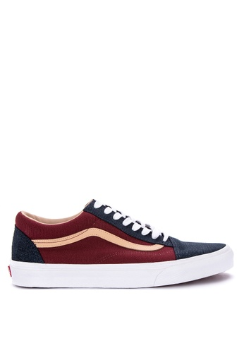 Vans multi Textured Suede Old Skool Sneakers 260E8SHE1C6296GS_1