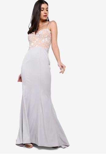 JARLO LONDON silver Lilou Dress 72303AA3623108GS_1